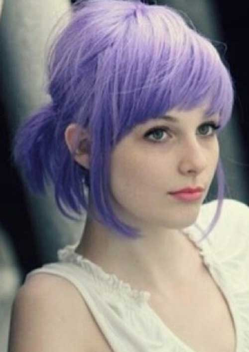 Best ideas about Short Purple Hairstyles . Save or Pin 30 Super Short Haircuts With Bangs Now.
