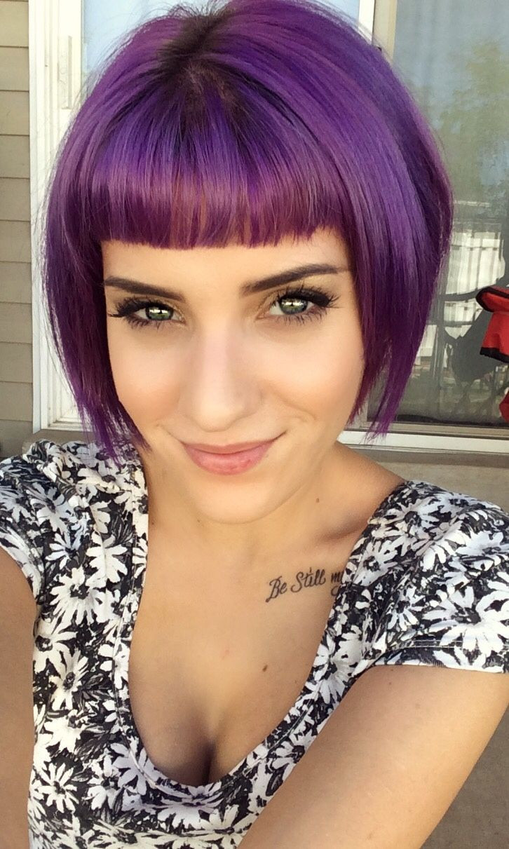 Best ideas about Short Purple Hairstyles . Save or Pin 25 best ideas about Short bangs hairstyles on Pinterest Now.