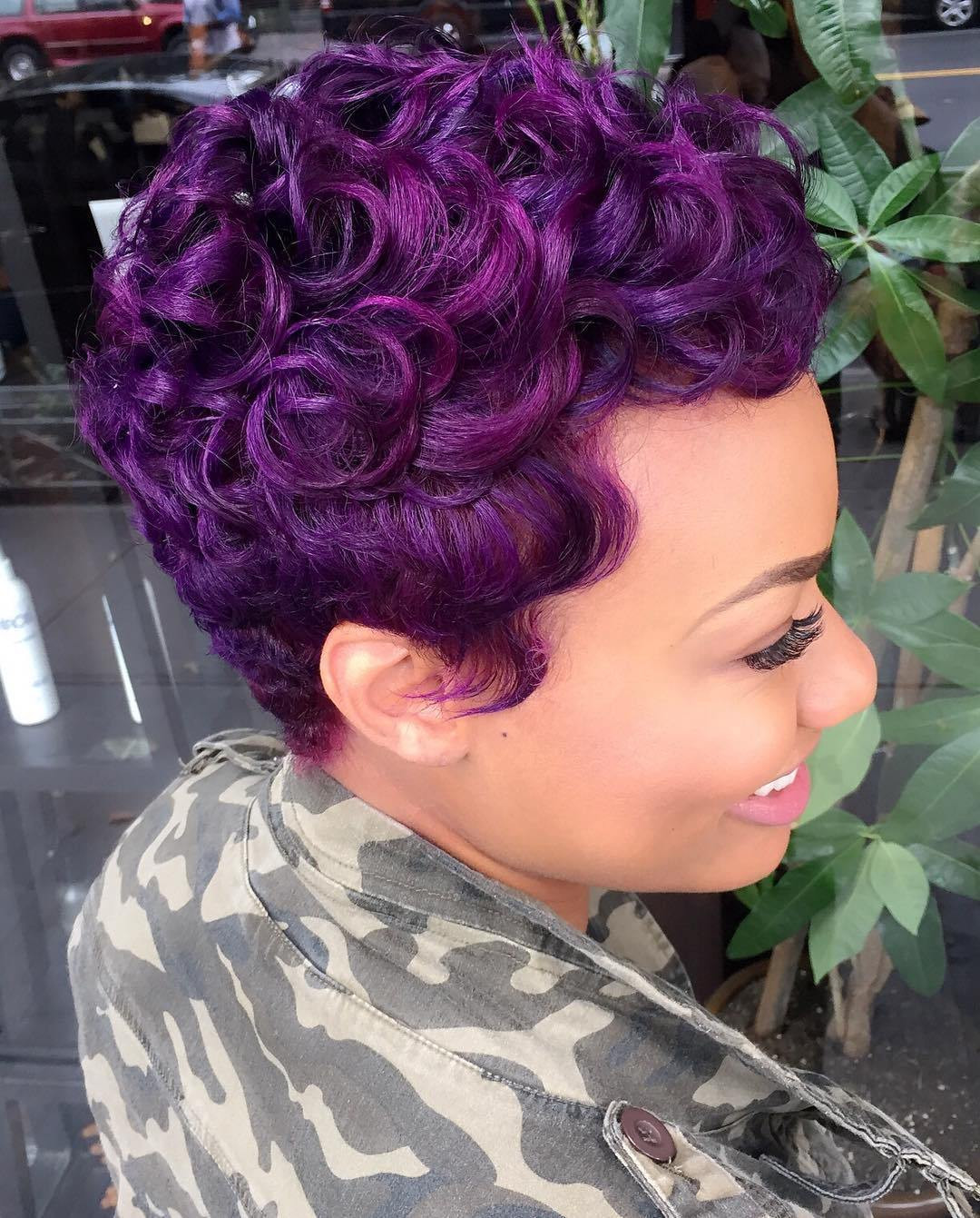 Best ideas about Short Purple Hairstyles . Save or Pin 40 Versatile Ideas of Purple Highlights for Blonde Brown Now.