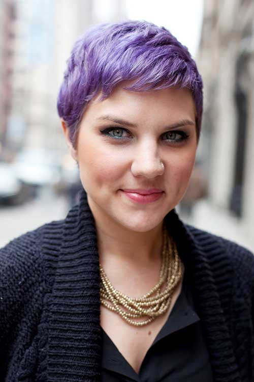 Best ideas about Short Purple Hairstyles . Save or Pin New Pixie Haircuts for Girls Now.