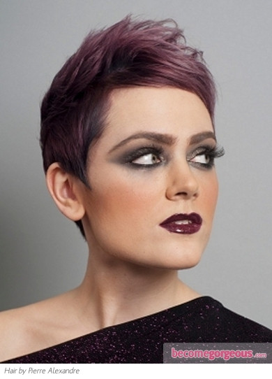 Best ideas about Short Purple Hairstyles . Save or Pin Punk Girl Hairstyles Short Purple Hair Style Now.