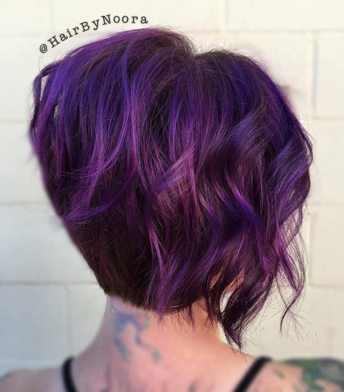 Best ideas about Short Purple Hairstyles . Save or Pin Purple Ombre Hair Ideas Plum Lilac Lavender and Violet Now.