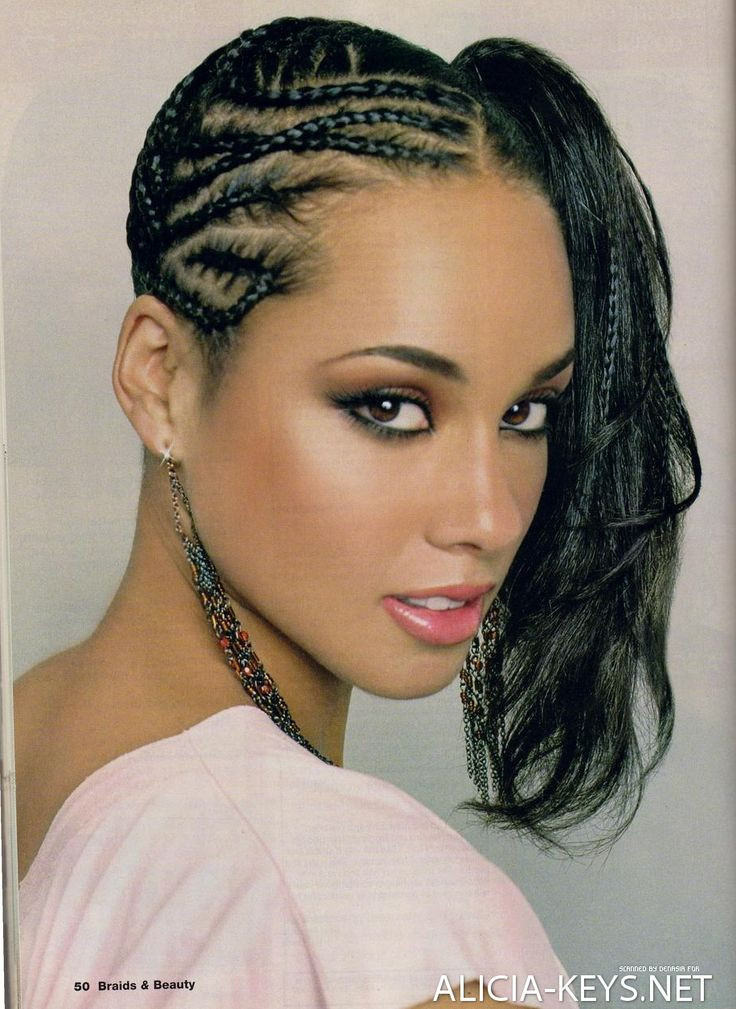 Best ideas about Side Braid Hairstyles For Black Hair . Save or Pin alicia keys hairstyles canerow side ponytail Now.