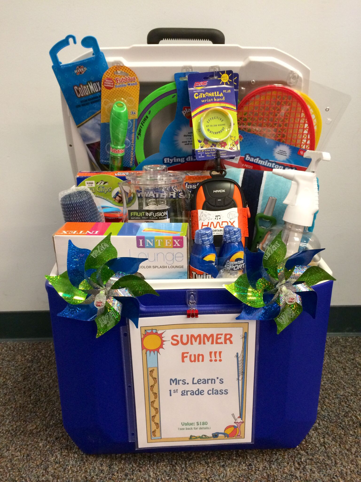 """Best ideas about Silent Auction Gift Basket Ideas . Save or Pin Silent auction """"basket"""" for school fundraiser using ice Now."""