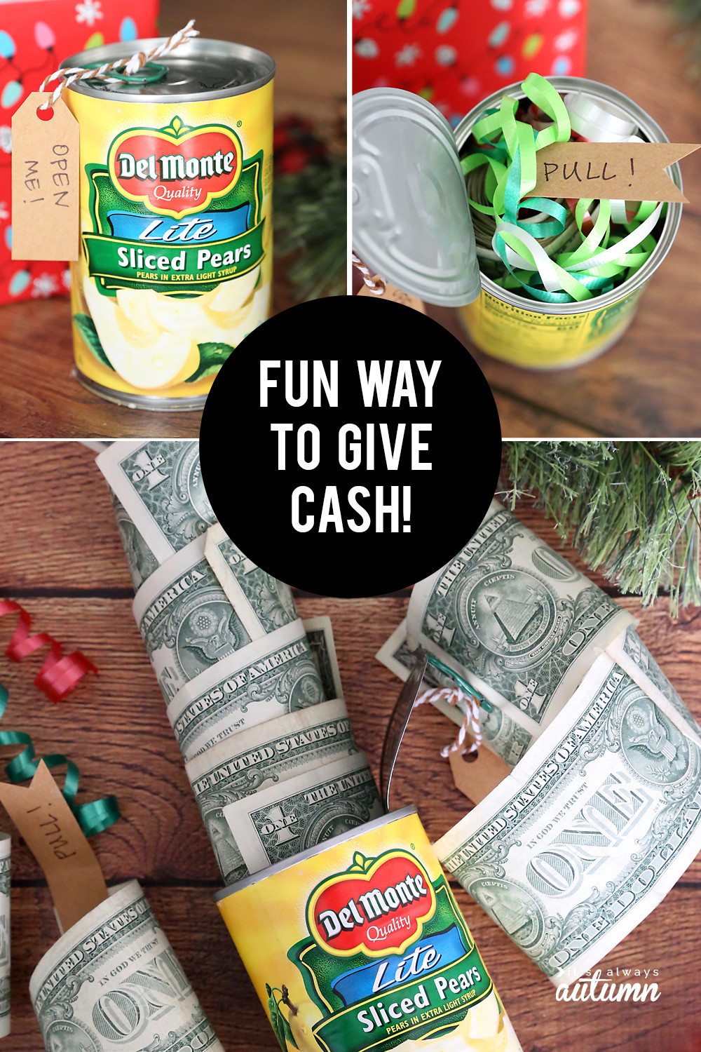 Best ideas about Silly Gift Ideas . Save or Pin Funny Christmas money t idea Cash in a can It s Now.