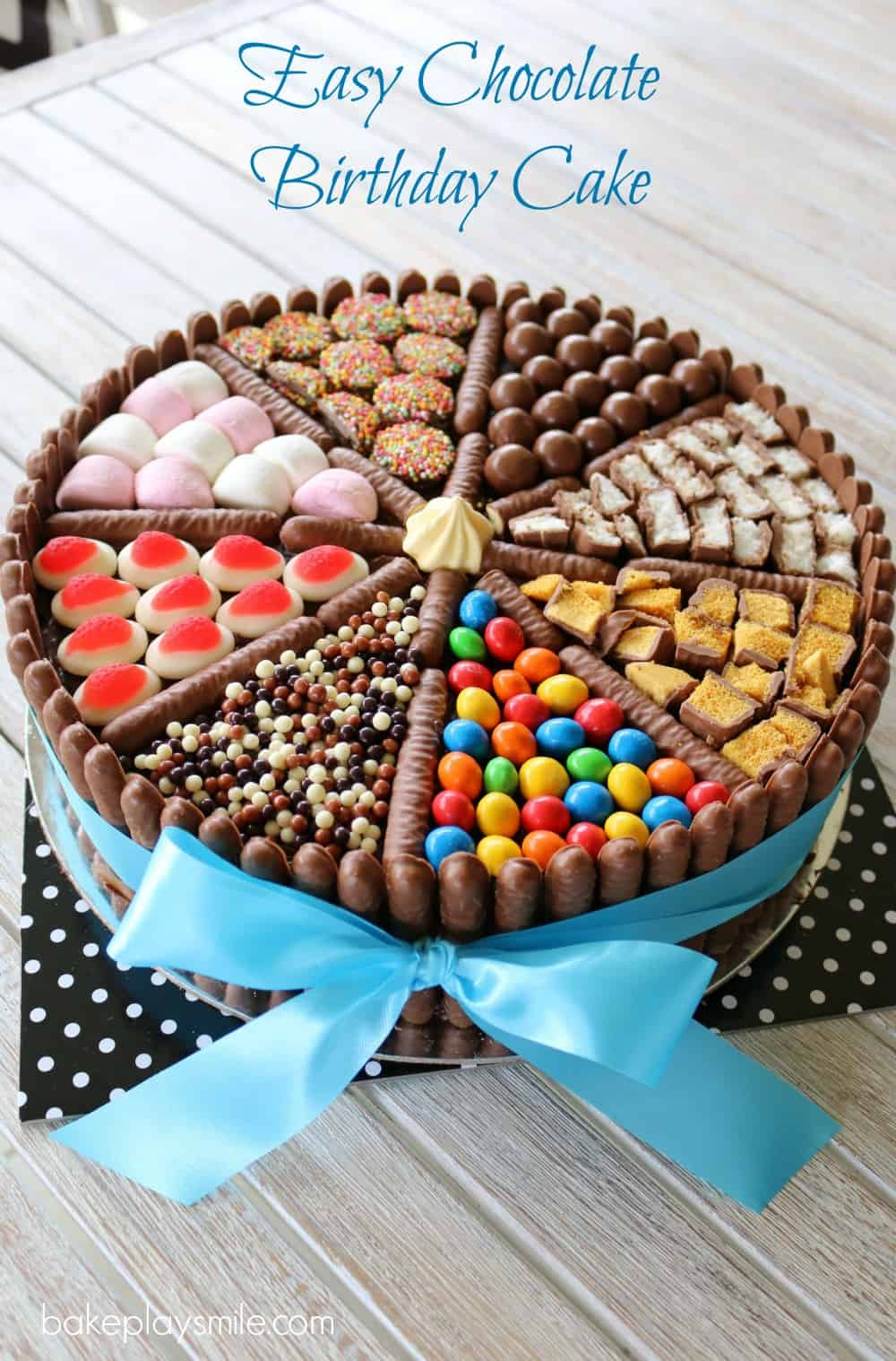 Best ideas about Simple Birthday Cake Recipes . Save or Pin Easy Chocolate Birthday Cake lies chocolates & more Now.