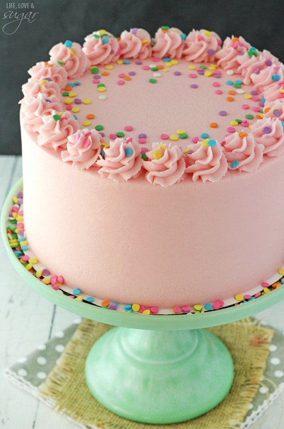 Best ideas about Simple Birthday Cake Recipes . Save or Pin Moist and Fluffy Vanilla Cake Life Love and Sugar Now.