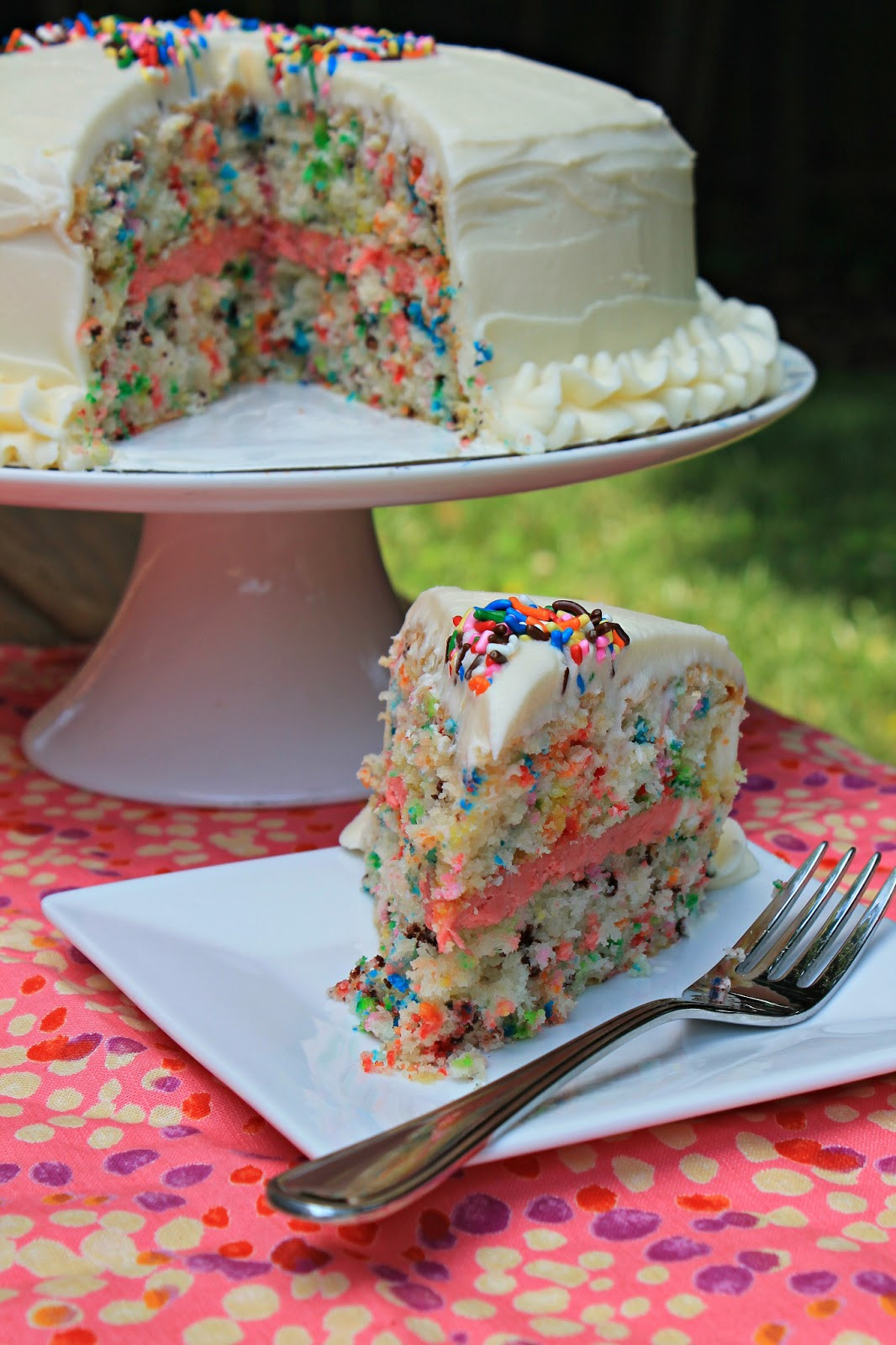 Best ideas about Simple Birthday Cake Recipes . Save or Pin Easy Funfetti Layered Birthday Cake Carolina Charm Now.