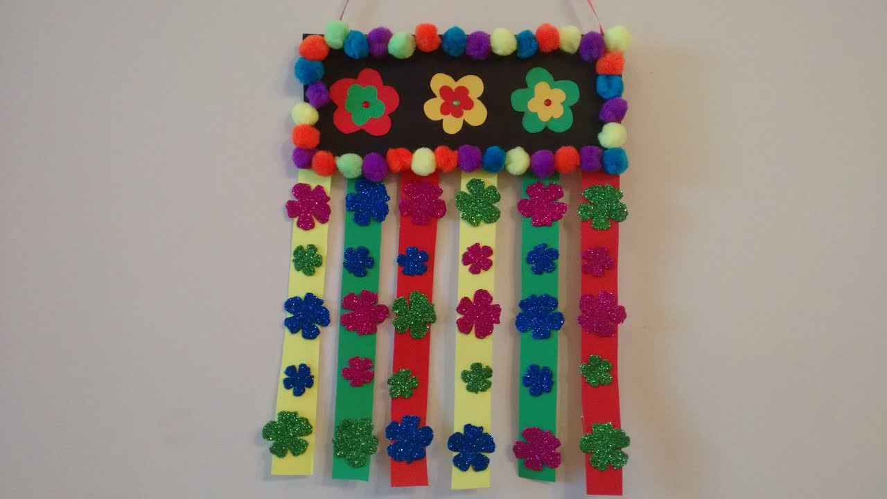 Best ideas about Simple Craft Ideas . Save or Pin Craft idea Simple and easy wall hanging idea for kids Now.