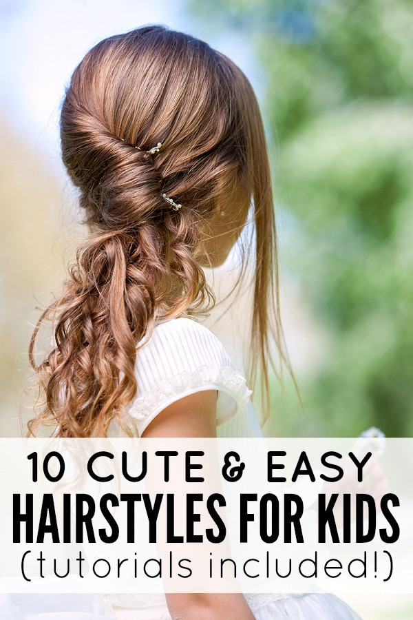 Best ideas about Simple Hairstyle For Kids . Save or Pin 10 cute and easy hairstyles for kids Now.