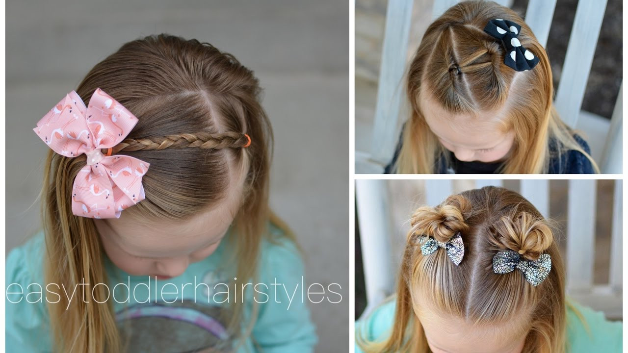 Best ideas about Simple Hairstyle For Kids . Save or Pin 3 Quick and Easy Toddler Hairstyles for Beginners Now.