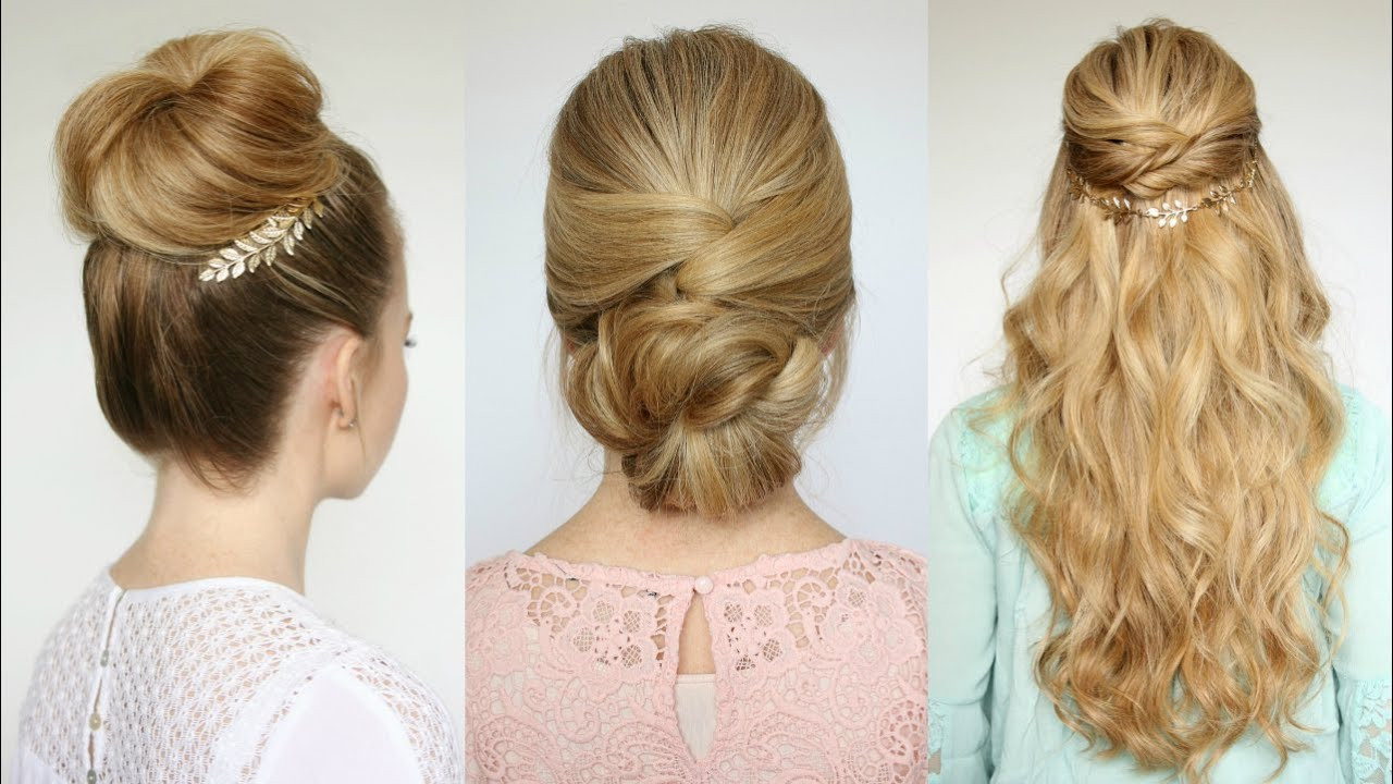 Best ideas about Simple Hairstyles For Prom . Save or Pin 3 Easy Prom Hairstyles Now.