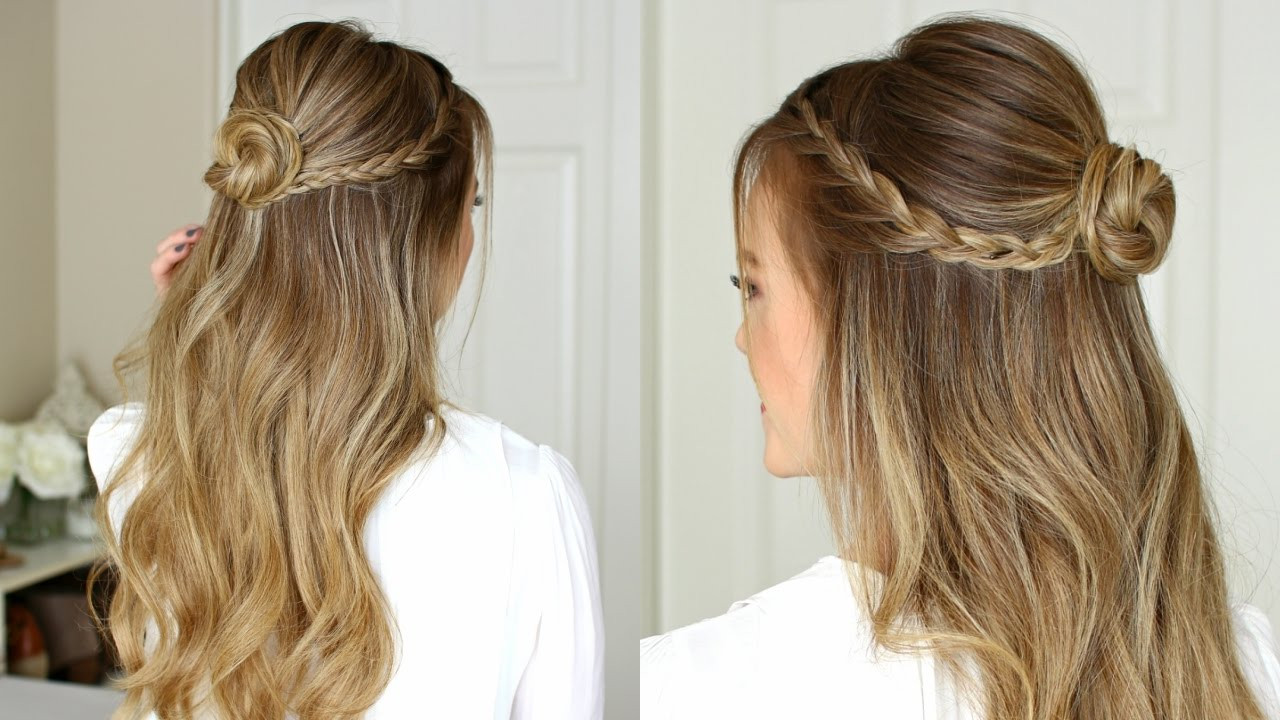 Best ideas about Simple Hairstyles For Prom . Save or Pin Easy Half Up Prom Hairstyle Now.
