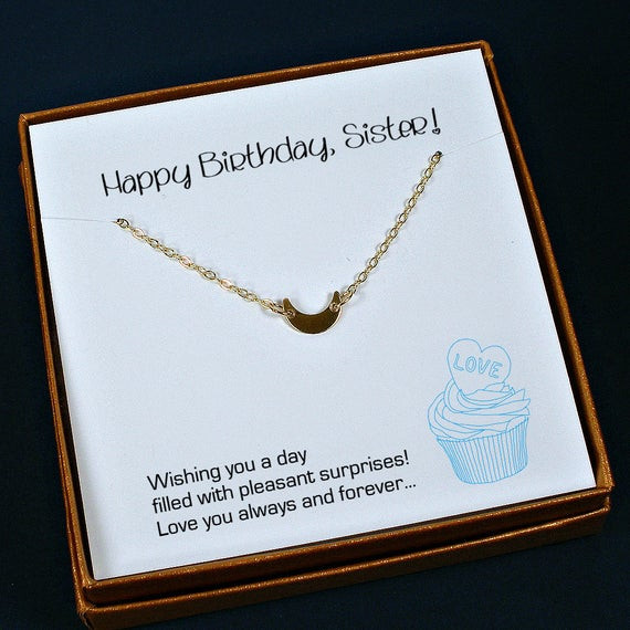 Best ideas about Sister Birthday Gift Ideas . Save or Pin Sister Birthday Gift Sister Necklace Sister Gift Ideas Now.