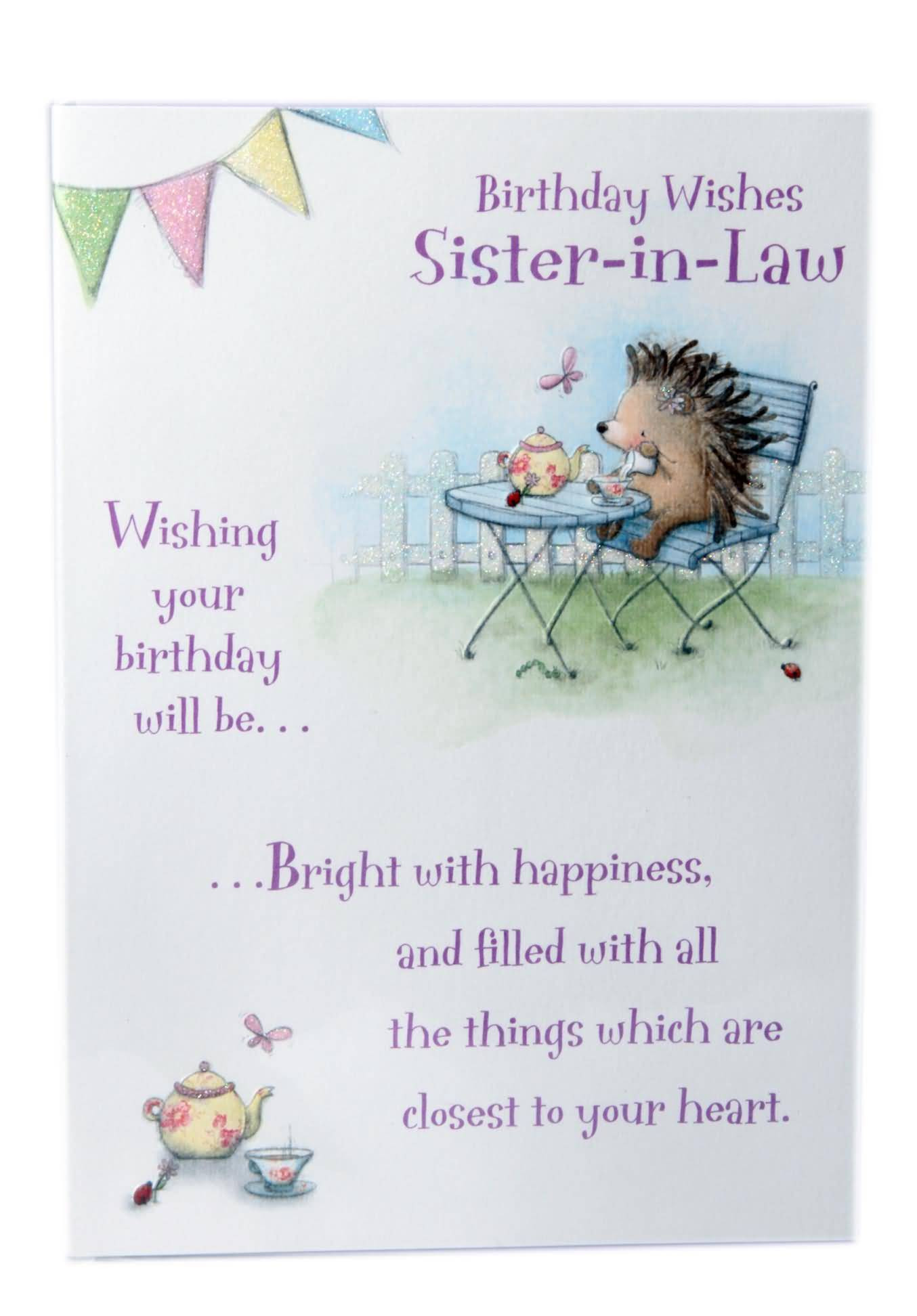 Best ideas about Sister In Law Birthday Quotes . Save or Pin Birthday Wishes For Sister In Law Now.