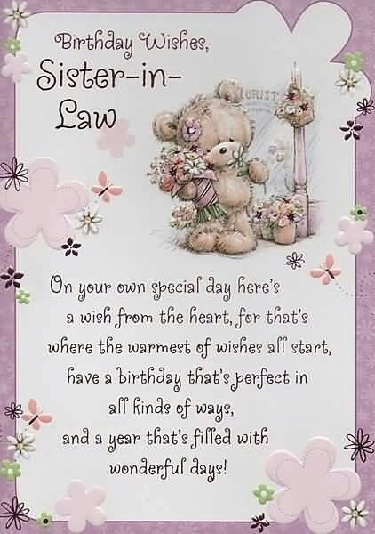 Best ideas about Sister In Law Birthday Quotes . Save or Pin Birthday Wishes Sister In Law s and Now.