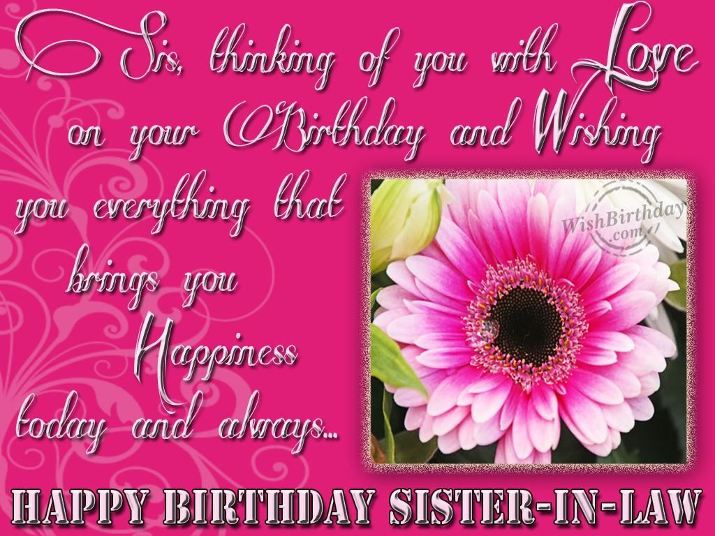 Best ideas about Sister In Law Birthday Quotes . Save or Pin Happy Birthday Sister In Law s and Now.