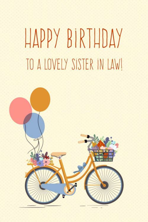 Best ideas about Sister In Law Birthday Wish . Save or Pin The Best Happy Birthday Wishes for your Sister in law Now.