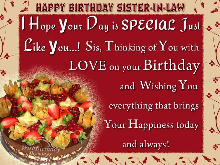 Best ideas about Sister In Law Birthday Wish . Save or Pin Valentine Quotes For Sister In Law Happy Birthday Quotes Now.