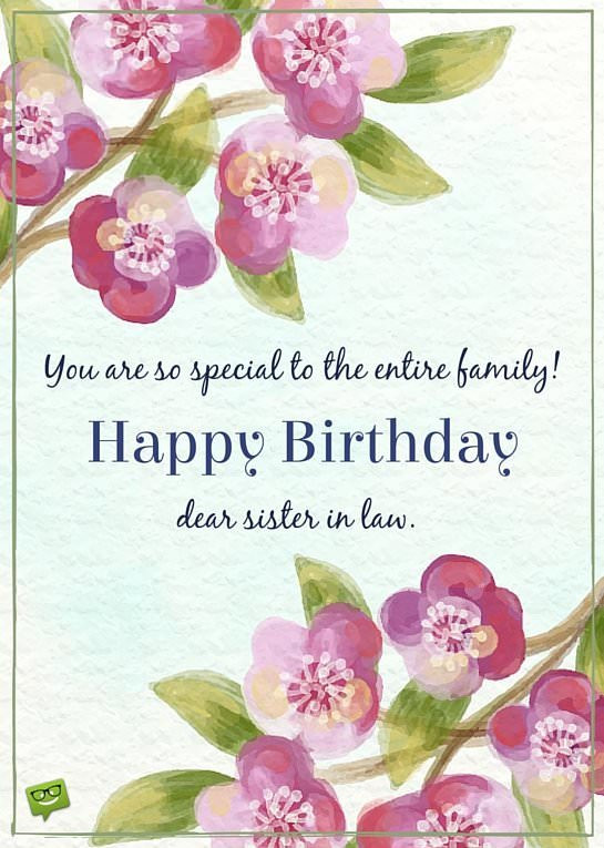 Best ideas about Sister In Law Birthday Wish . Save or Pin Birthday Wishes for Your Sister In law Now.