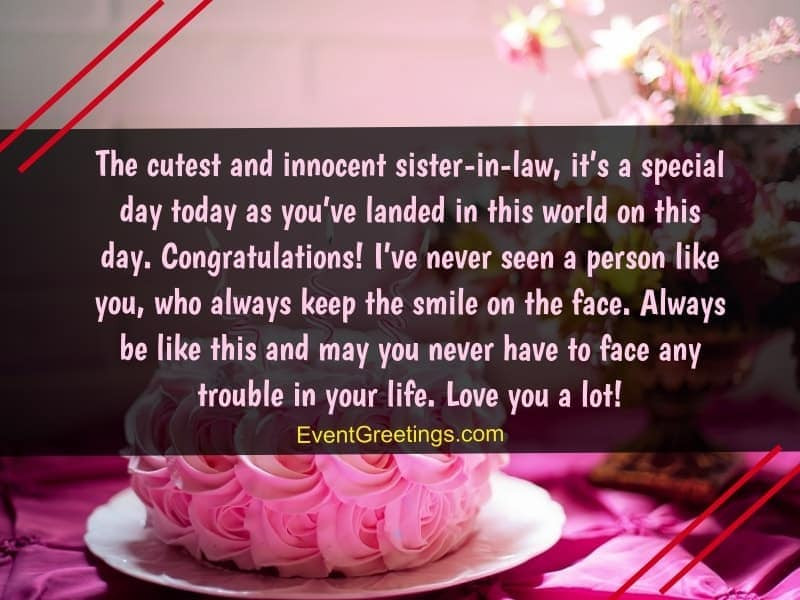 Best ideas about Sister In Law Birthday Wish . Save or Pin Birthday Wishes for Sister In Law To Express Unconditional Now.