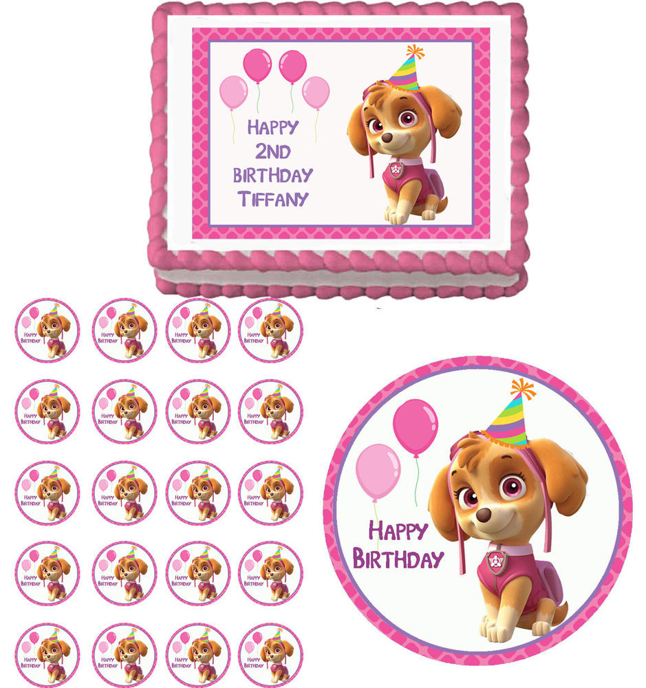 Best ideas about Skye Paw Patrol Birthday Decorations . Save or Pin PAW PATROL SKYE Edible Birthday Cake Topper Cupcake Image Now.