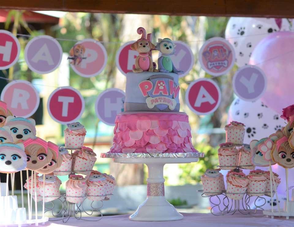 "Best ideas about Skye Paw Patrol Birthday Decorations . Save or Pin Paw Patrol Birthday ""Hailey's Pink Skye Paw Patrol Party Now."