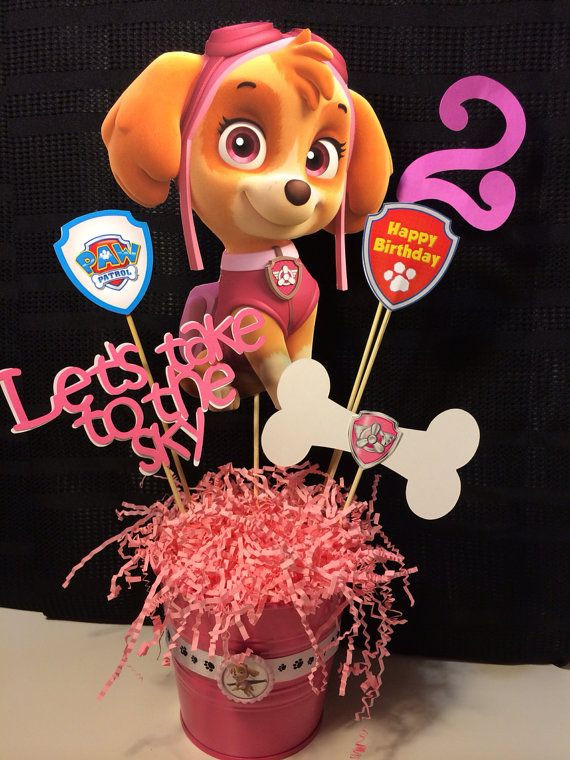 Best ideas about Skye Paw Patrol Birthday Decorations . Save or Pin SKYE Paw Patrol centerpiece with magnets Now.