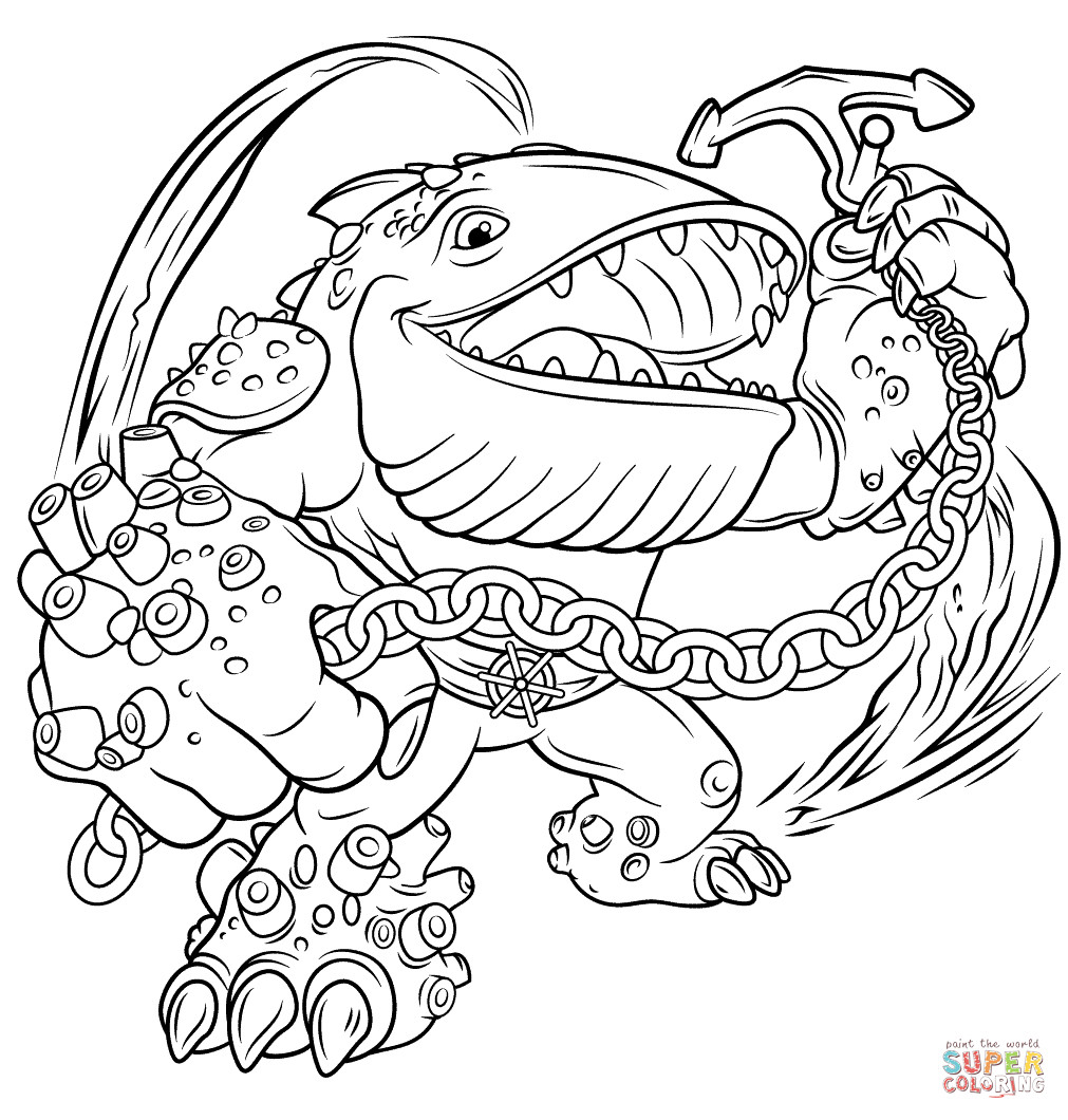 Best ideas about Skylanders Giants Printable Coloring Pages . Save or Pin Skylanders Giants Thumpback coloring page Now.