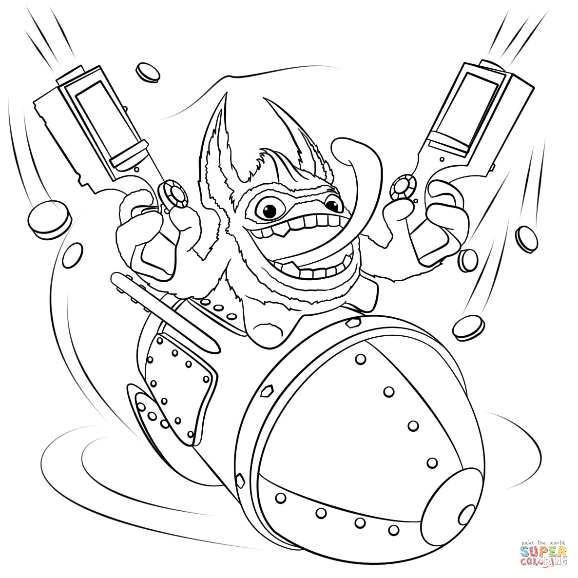 Best ideas about Skylanders Giants Printable Coloring Pages . Save or Pin Skylanders Trigger Happy coloring page Now.