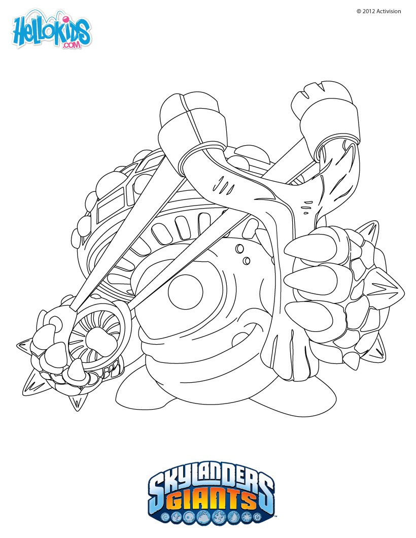 Best ideas about Skylanders Giants Printable Coloring Pages . Save or Pin Shroomboom coloring pages Hellokids Now.