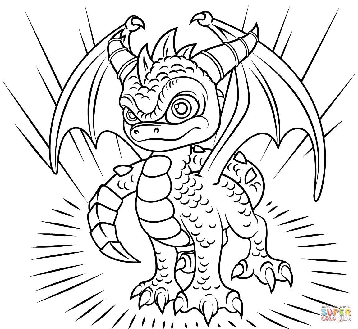 Best ideas about Skylanders Giants Printable Coloring Pages . Save or Pin Skylanders Spyro coloring page Now.