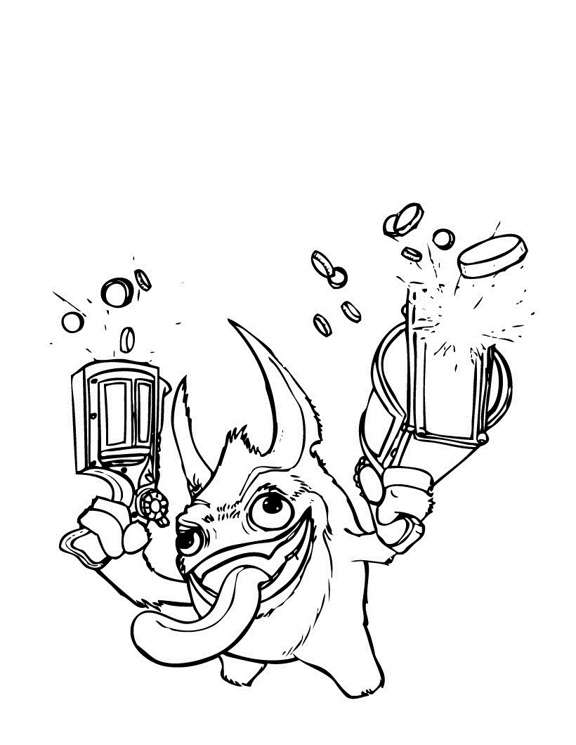 Best ideas about Skylanders Giants Printable Coloring Pages . Save or Pin Free Printable Skylander Giants Coloring Pages For Kids Now.
