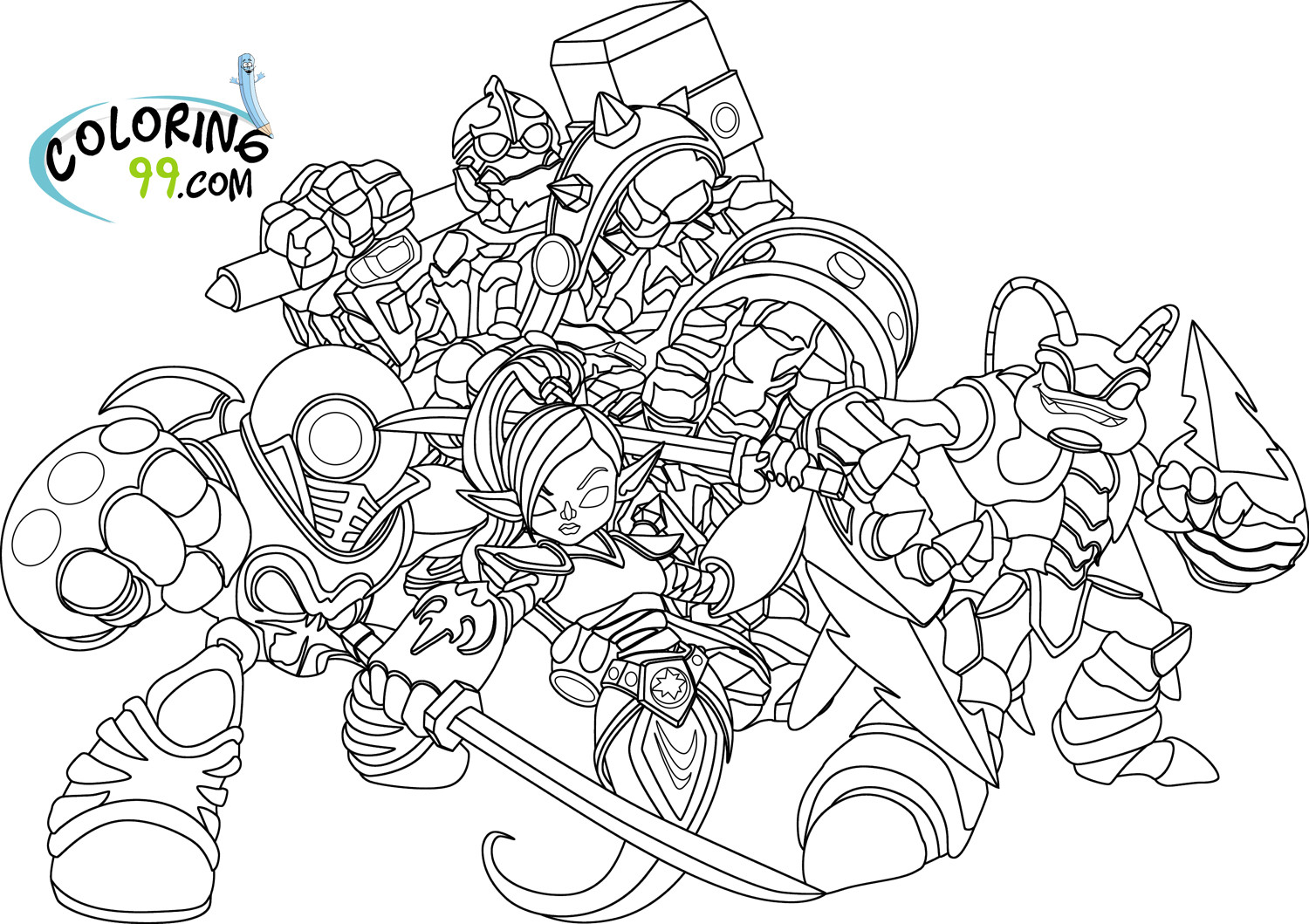 Best ideas about Skylanders Giants Printable Coloring Pages . Save or Pin Skylanders Giants Coloring Pages Now.