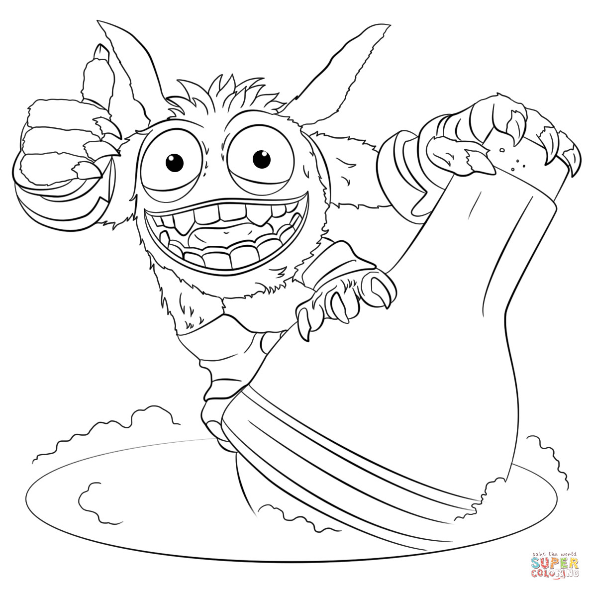 Best ideas about Skylanders Giants Printable Coloring Pages . Save or Pin Skylanders Giants Pop Fizz coloring page Now.