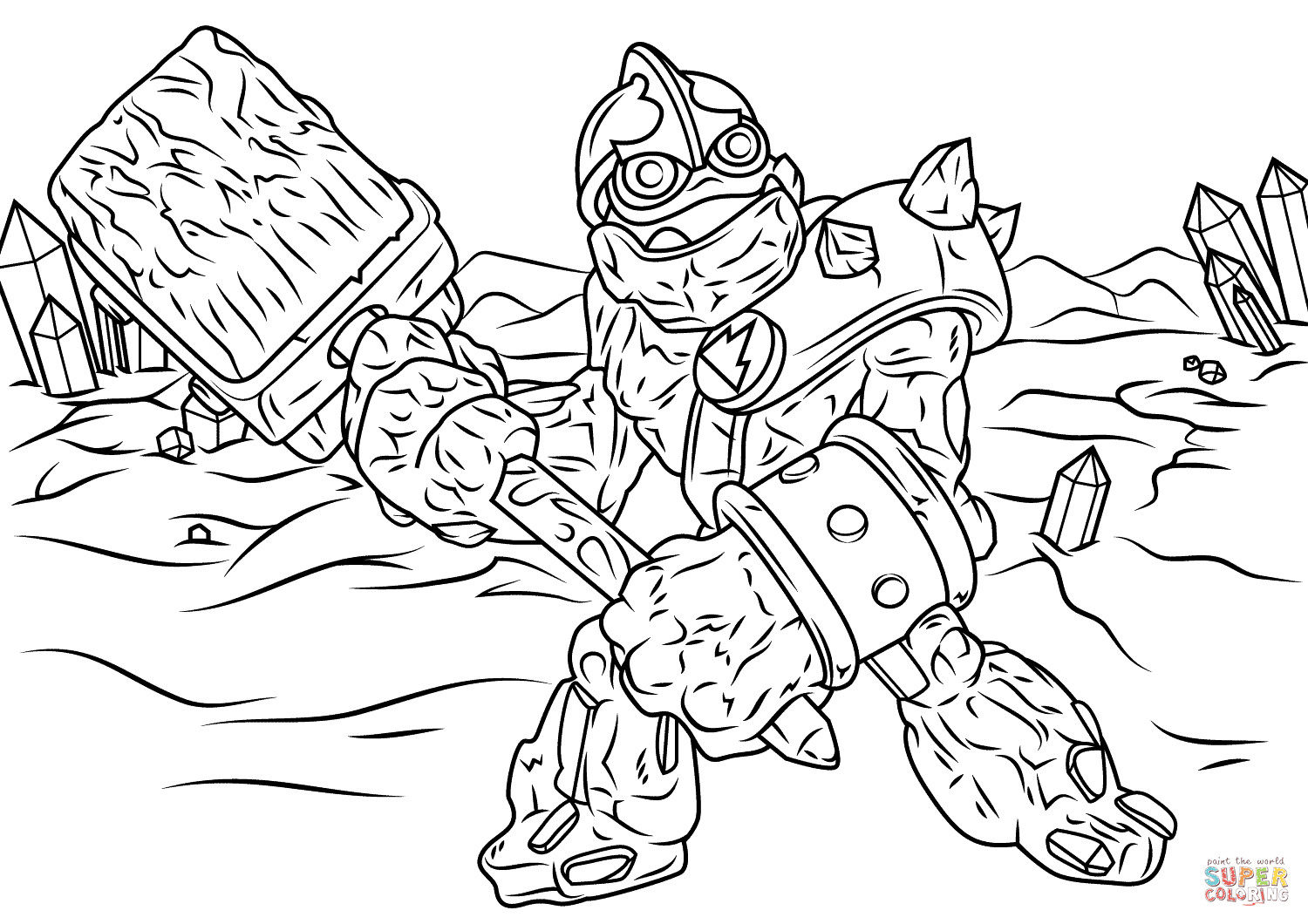 Best ideas about Skylanders Giants Printable Coloring Pages . Save or Pin Skylanders Giants Crusher coloring page Now.
