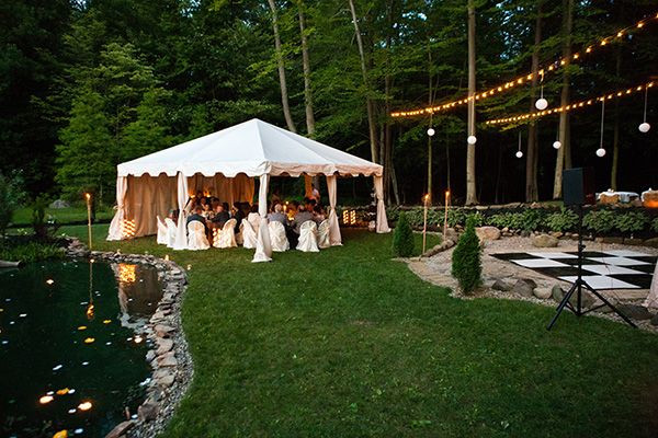 Best ideas about Small Backyard Wedding . Save or Pin Sarah and Zac s $7 000 Backyard Wedding Now.