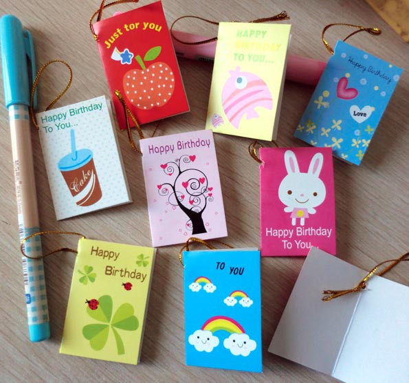 Best ideas about Small Birthday Gift Ideas . Save or Pin 64pcs lot Creative Cartoon Mini Small Greeting Cards For Now.