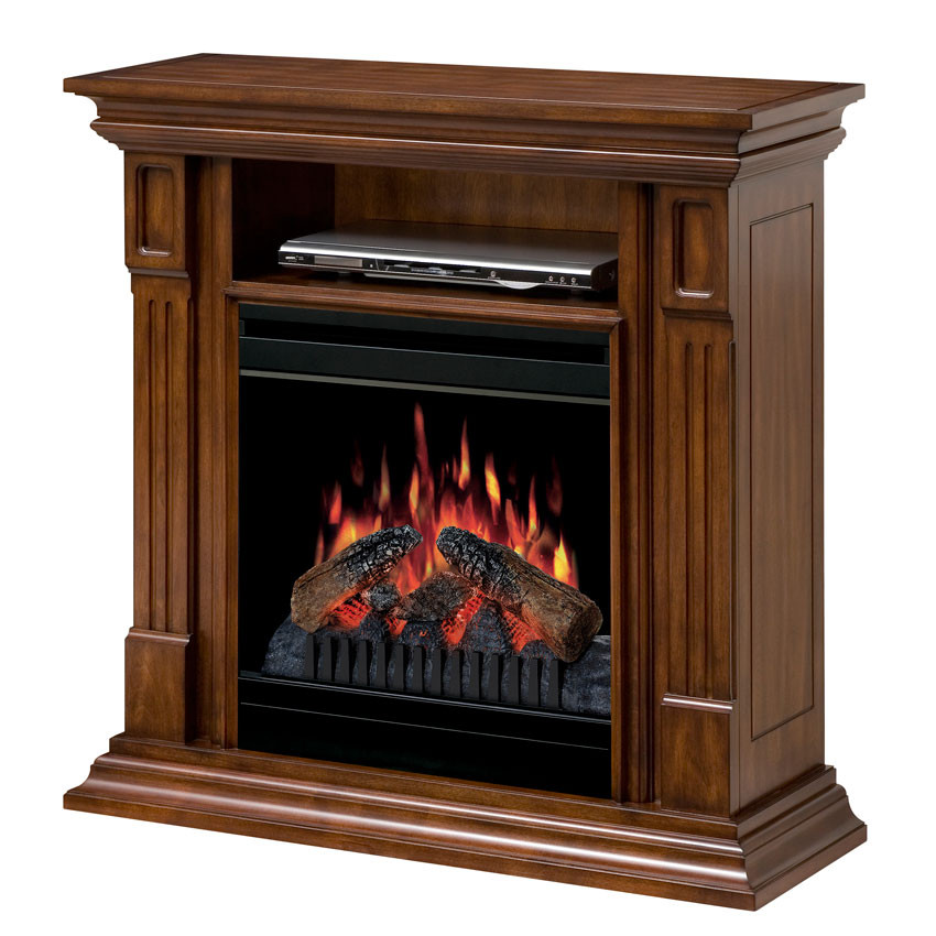 Best ideas about Small Electric Fireplace . Save or Pin Deerhurst Burnished Walnut Electric Fireplace Mantel Now.