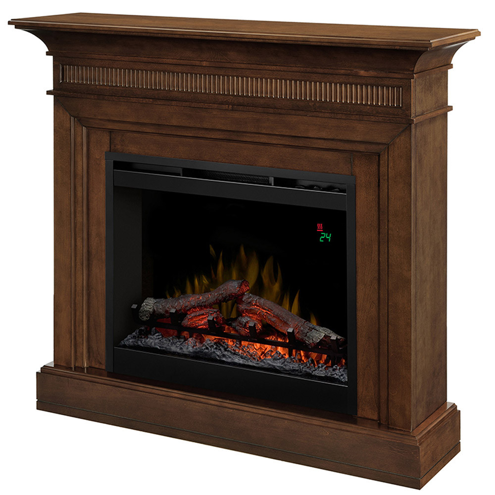 Best ideas about Small Electric Fireplace . Save or Pin Harleigh Electric Fireplace Mantel Package in Walnut Now.