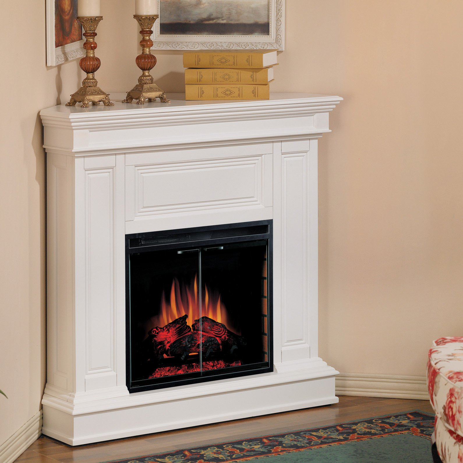 Best ideas about Small Electric Fireplace . Save or Pin White Small Electric Fireplaces — Kokoazik Home Designs Now.