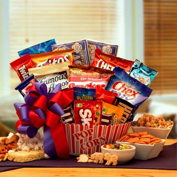 Best ideas about Snack Gift Basket Ideas . Save or Pin Snack Time Favorites Gift Basket Now.