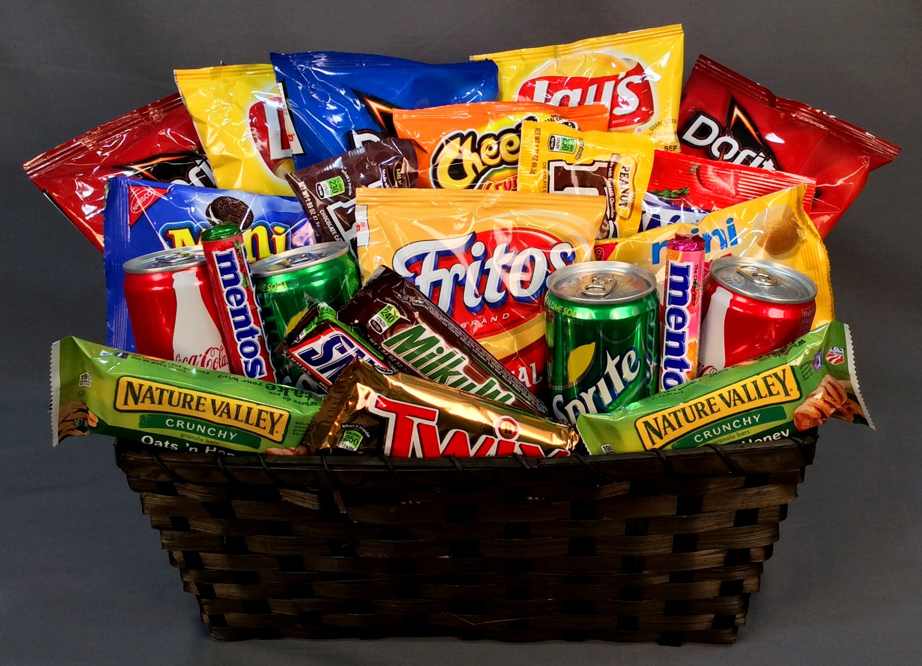 Best ideas about Snack Gift Basket Ideas . Save or Pin BIG BASKET OF LITTLE CALORIES Now.