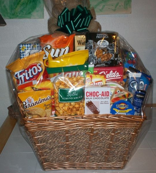 Best ideas about Snack Gift Basket Ideas . Save or Pin Get Well Snack Basket Custom Gift Baskets Now.