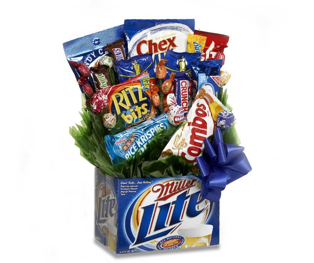 Best ideas about Snack Gift Basket Ideas . Save or Pin snack bouquet Classic Candy Ice Cream Parlor Now.