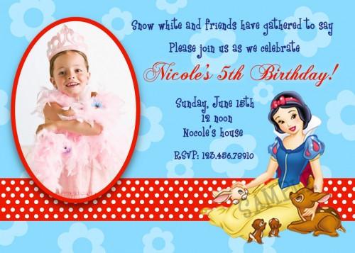Best ideas about Snow White Birthday Invitations . Save or Pin Snow White Birthday Invitations Ideas – Bagvania FREE Now.