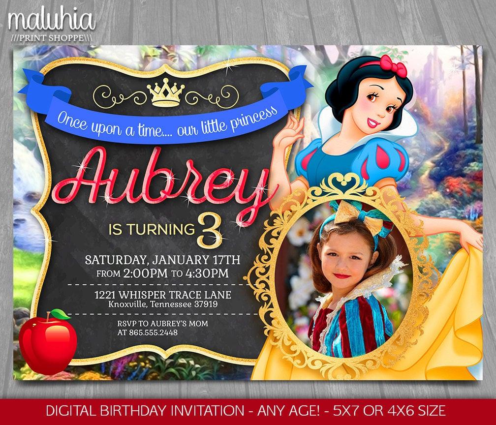 Best ideas about Snow White Birthday Invitations . Save or Pin Snow White Invitation Disney Snow White Invite Snow White Now.