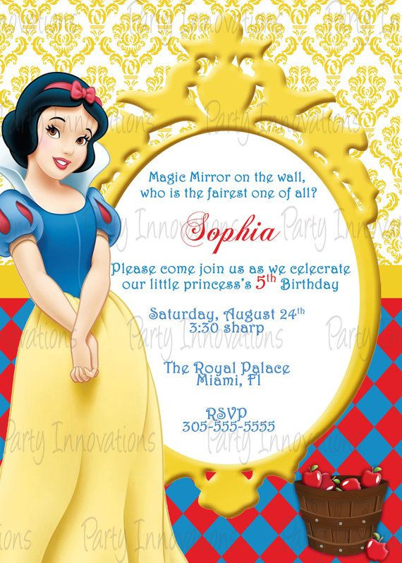 Best ideas about Snow White Birthday Invitations . Save or Pin FREE Printable Snow White Birthday Party Invitations Now.