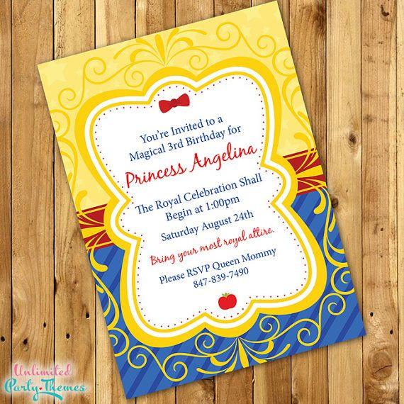 Best ideas about Snow White Birthday Invitations . Save or Pin Best 25 Snow white invitations ideas on Pinterest Now.