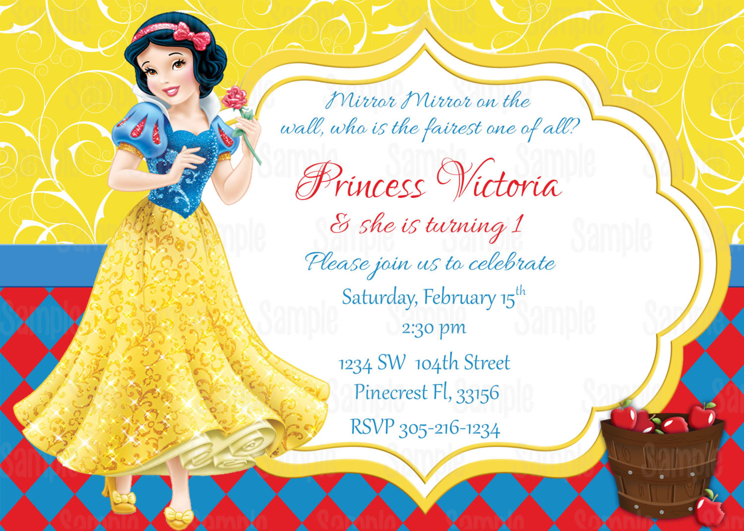 Best ideas about Snow White Birthday Invitations . Save or Pin Snow White Printable Birthday Party by PartyInnovations09 Now.